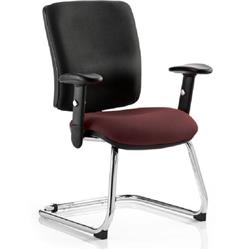 Chiro Task Operator Chair Medium Cantilever Chilli Colour Seat With Arms Ref KCUP0142