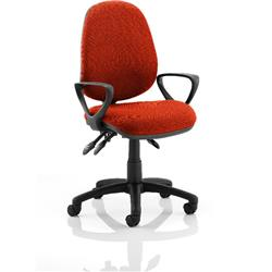 Luna III Lever Task Operator Chair Pimento Colour With Loop Arms Ref KCUP0967