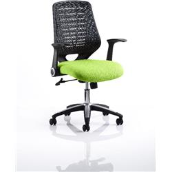 Relay Task Operator Chair Swizzle Colour Black Back With Arms Ref KCUP0506