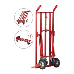5 Star Facilities Sack Truck 3 Position Steel Frame Double Rear Castors Capacity 300kg