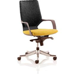 Xenon Executive Chair Black Medium Back Sunset Colour Seat With Arms Ref KCUP0637