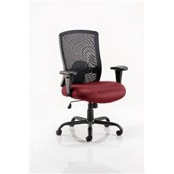Portland HD Task Operator Chair Chilli Colour Seat With Arms Ref KCUP0462