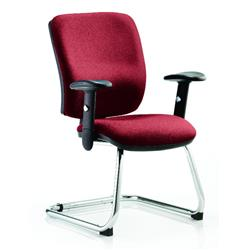 Chiro Task Operator Chair Medium Cantilever Chilli Colour With Arms Ref KCUP0134