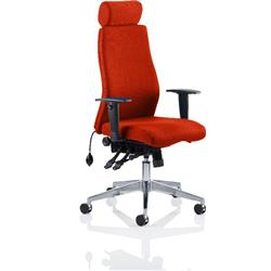 Onyx Posture Chair Pimento Colour With Headrest With Arms Ref KCUP0436