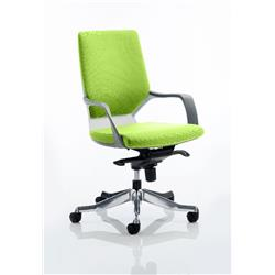 Xenon Executive Chair White Medium Zest Back Swizzle Colour With Arms Ref KCUP0610