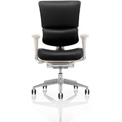 Ergo-Dynamic Posture Chair Grey Frame Bonded Leather With Arms Ref PO00053