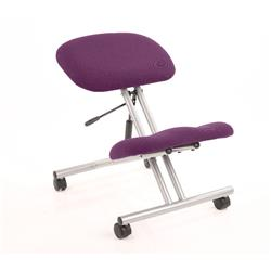 Kneeling Stool Silver Frame Purple Colour Ref KCUP0328