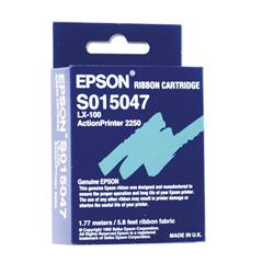 Epson Printer Ribbon Fabric Nylon Black [for LX-100] Ref S015047 Additional Information Epson Printer Ribbon Fabric Nylon Black [for LX-100]