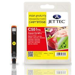 Jet Tec Canon Compatible CLI--551XL (11ml) Remanufactured Inkjet Cartridge