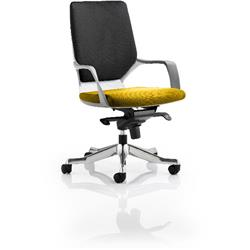 Xenon Executive Chair White Medium Back Sunset Colour Seat With Arms Ref KCUP0621