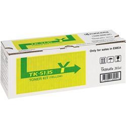 Kyocera TK-5135Y Yellow (Yield 5000 Pages) Toner Cartridge for TASKalfa 265ci, TASKalfa 266ci Printers