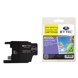 Jet Tec Brother Compatible LC1220BK (8ml) Remanufactured Inkjet Cartridge
