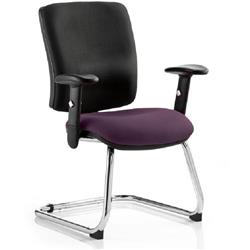 Chiro Task Operator Chair Medium Cantilever Purple Colour Seat With Arms Ref KCUP0144