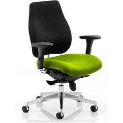 Chiro Plus Posture Chair Swizzle Colour Seat With Arms Ref KCUP0154