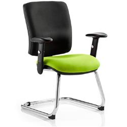 Chiro Task Operator Chair Medium Cantilever Swizzle Colour Seat With Arms Ref KCUP0138