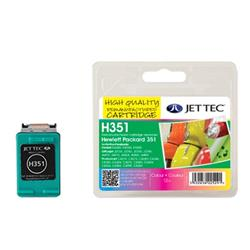 Jet Tec HP Compatible HP351/CC338EE (3x4ml) Remanufactured Colour Inkjet Cartridge