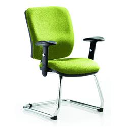Chiro Task Operator Chair Medium Cantilever Swizzle Colour With Arms Ref KCUP0130