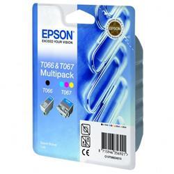 Epson Inkjet Cartridge Multipack Black and Colour Ref C13T06624010 [Pack 2]