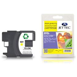 Jet Tec Brother Compatible LC980Y (13ml) Remanufactured Inkjet Cartridge