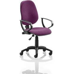 Eclipse I Lever Task Operator Chair Purple Colour With Loop Arms Ref KCUP0813