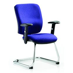 Chiro Task Operator Chair Medium Cantilever Serene Colour With Arms Ref KCUP0131