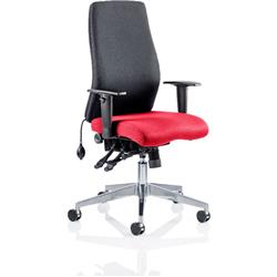 Onyx Posture Chair Without Flame Headrest Bespoke Colour Seat With Arms Ref KCUP0425