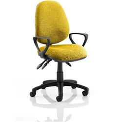 Luna III Lever Task Operator Chair Sunset Colour With Loop Arms Ref KCUP0963