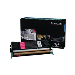 Lexmark Laser Toner Cartridge Return Program Page Life 7000pp Magenta Ref C5340MX