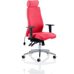 Onyx Posture Chair Cherry Colour With Headrest With Arms Ref KCUP0433