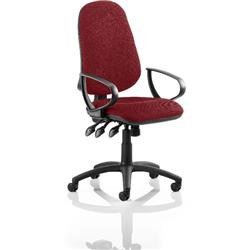 Eclipse III Lever Task Operator Chair Chilli Colour With Loop Arms Ref KCUP0869