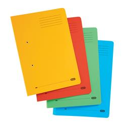 Elba Bright Transfer Spring File 320gsm Foolscap Assorted Ref 100090330 [Pack 10] - Free Coffee Voucher