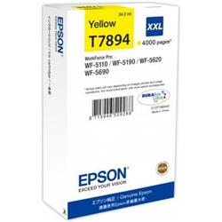 Epson T7894 XXL Yellow Ink Cartridge (65.1 ml) for WorkForce Pro WF-5110DW/WF-5690DWF/WF-5190DW/WF-5620DWF Inkjet Printers