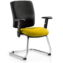 Chiro Task Operator Chair Medium Cantilever Sunset Colour Seat With Arms Ref KCUP0141