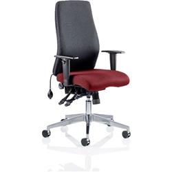 Onyx Posture Chair Without Shiraz Headrest Bespoke Colour Seat With Arms Ref KCUP0430