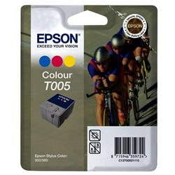 Epson T005 Inkjet Cartridge Cyclist Page Life 570pp Colour Ref C13T00501110