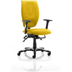 Sierra Task Operator Chair Sunset Colour Fabric With Arms Ref KCUP0780