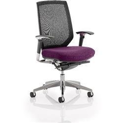 Midas Task Operator Chair Purple Colour Seat With Arms Ref KCUP0416