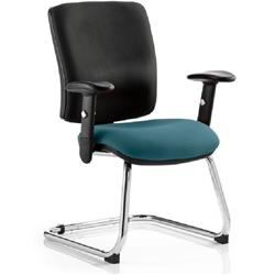 Chiro Task Operator Chair Medium Cantilever Kingfisher Colour Seat With Arms Ref KCUP0143