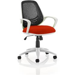 Atom Task Operator Pimento Colour Seat With Arms Ref KCUP0060