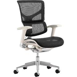 Ergo-Dynamic Posture Chair Grey Frame Black Mesh With Arms Ref PO00052