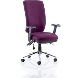 Chiro Task Operator Chair High Back Purple Colour With Arms Ref KCUP0104