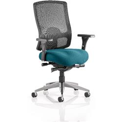 Regent Task Operator Chair Kingfisher Colour Seat With Arms Ref KCUP0503