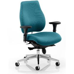 Chiro Plus Posture Chair Kingfisher Colour With Arms Ref KCUP0151