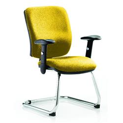 Chiro Task Operator Chair Medium Cantilever Sunset Colour With Arms Ref KCUP0133