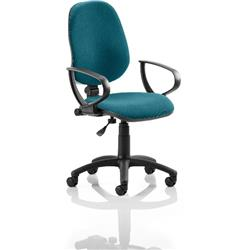 Eclipse I Lever Task Operator Chair Kingfisher Colour With Loop Arms Ref KCUP0815