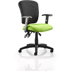 Toledo Task Operator Chair Swizzle Colour Seat With Arms Ref KCUP0586