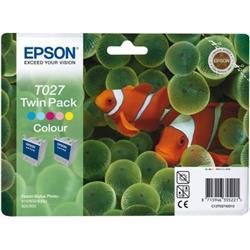 Epson Inkjet Cartridge Twinpack Colour Ref C13T027403
