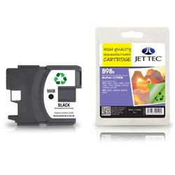 Jet Tec Brother Compatible LC980BK (18ml) Remanufactured Inkjet Cartridge