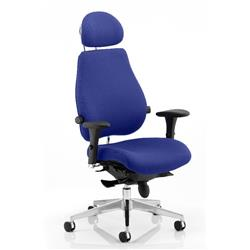 Chiro Plus Posture Chair Ultimate With Headrest Serene Colour With Arms Ref KCUP0171
