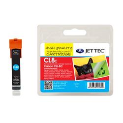 Jet Tec Canon Compatible CLI-8 C (13ml) Remanufactured Inkjet Cartridge